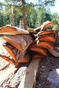 Leftover wood after milling